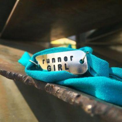 Pulseira Motivacional - Runner Girl - Bracelete Azul