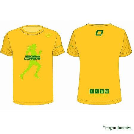 Camiseta Mania de Corrida Verde e Amarela Feminina