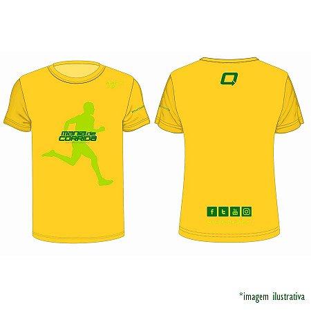 Camiseta Mania de Corrida Verde e Amarela Masculina