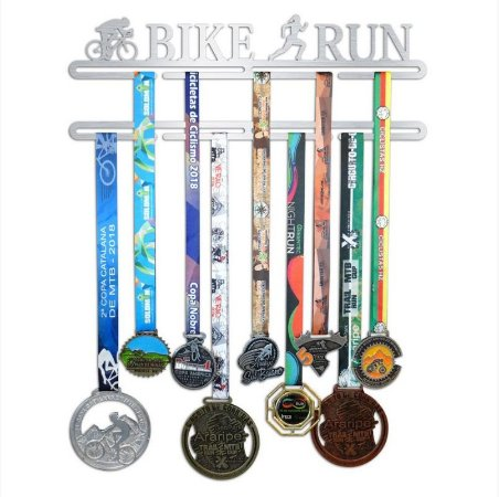 Porta Medalhas Bike Run Feminino