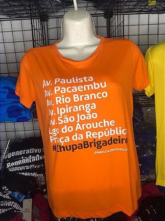 Camiseta #CHUPABRIGADEIRO Finisher Laranja