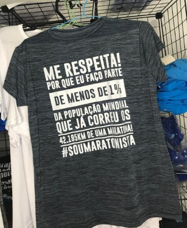 "Camiseta ""ME RESPEITA #SOUMARATONISTA"" Mescla Azul"