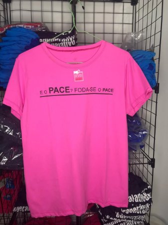 Camiseta Foda-se o Pace Rosa