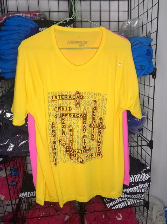 Camiseta Cruzadinha de Corrida Amarela
