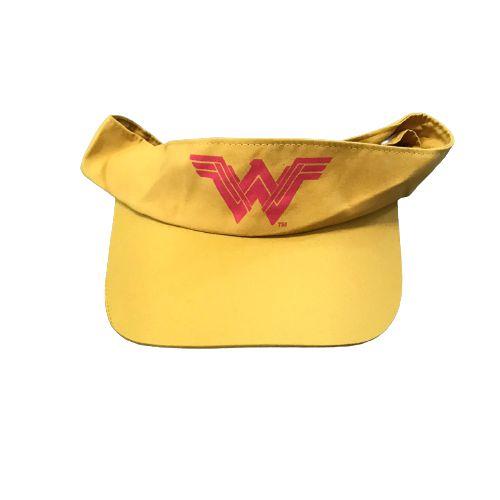 Viseira Corrida Mulher Maravilha Amarela - Produto Oficial Yescom   DC Runseries