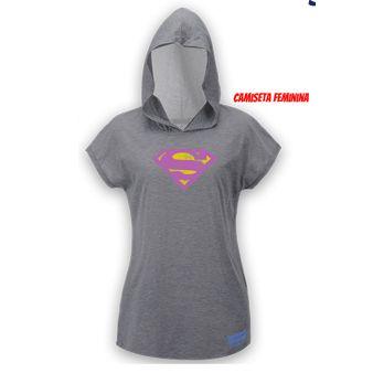 Camiseta Supergirl Run Cinza com Capuz - Produto Oficial Yescom | DC Runseries