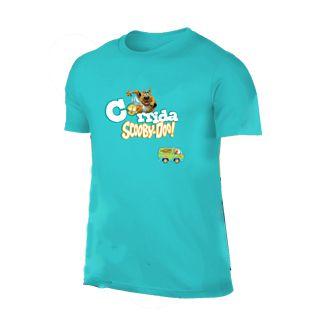 Camiseta Cãorrida Scooby-Doo! Verde Água  - Produto Oficial Yescom   DC Runseries