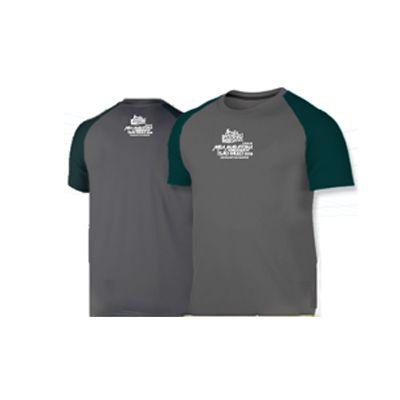Camiseta Meia Maratona de São Paulo 2018 - Cinza com detalhes verdes