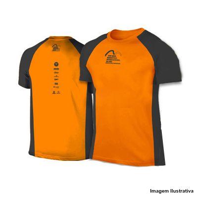 Camiseta Meia Maratona Internacional do Rio 2018 - Laranja com detalhes Cinza