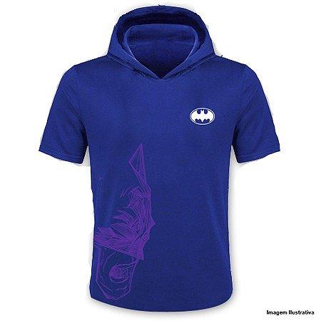 Camiseta Batman Com Capuz Azul - Produto Oficial Yescom | DC Runseries