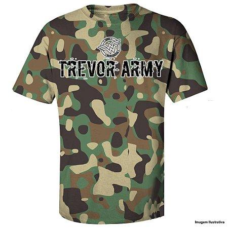 Camiseta Trevor Army em Algodão (Mulher Maravilha) - Produto Oficial Yescom | DC Runseries