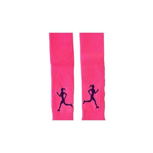 Canelito de Compressão Rosa Neon com Corredora Preta