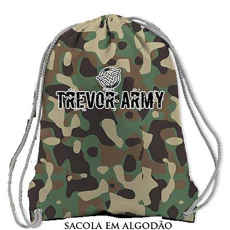 Sacochila Trevor Army (Mulher Maravilha) Camuflada em Algodão - Produto Oficial Yescom | DC Runseries
