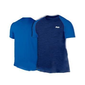 Camiseta Fila Azul em Poliamida