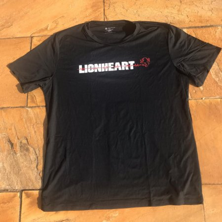 Camiseta Lion Heart Preta - Tecido Tecnológico UV Protection