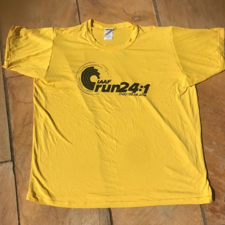 Camiseta IAAF RUN Amarela em Poliamida