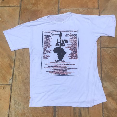 Camiseta Branca Corrida do Rock - Live ID