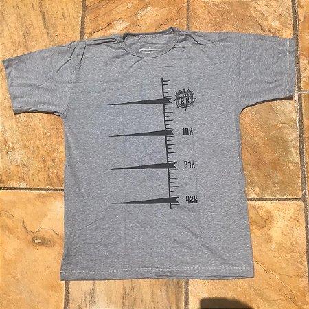 Camiseta Cinza Corrida do Rock - Rota 66 em Algodão