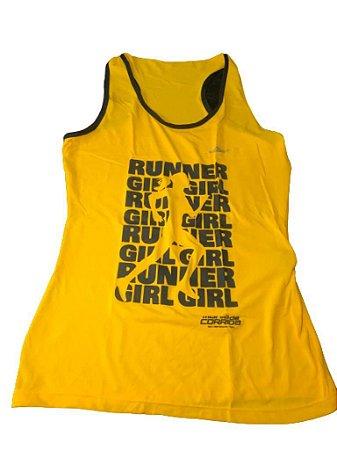 Regata RUNNER GIRL Amarelo Escuro - Mania de Corrida