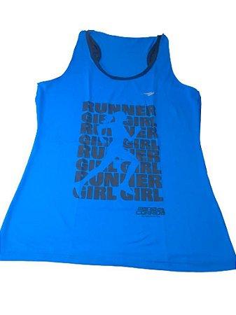 Regata RUNNER GIRL Azul Neon - Mania de Corrida