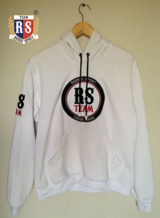 Moletom Capuz RS TEAM Branco RS02