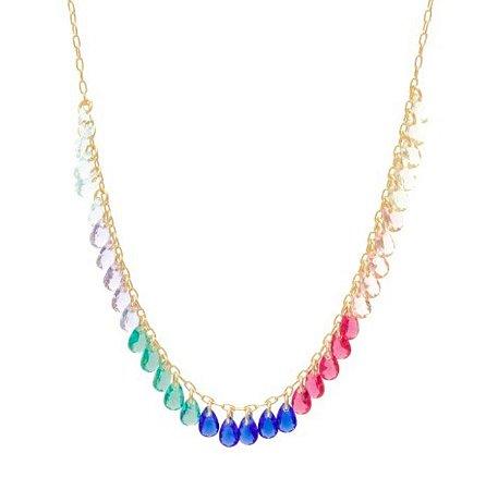 Colar de cristais coloridos
