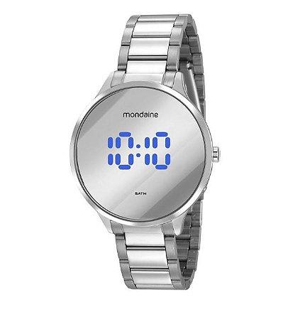 Relógio aço digital