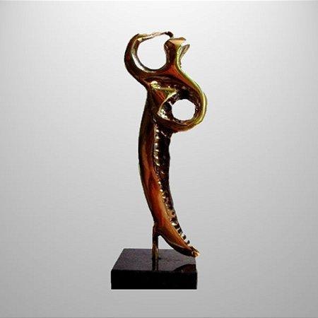 ¨Visão¨- Escultura de bronze - 19 cm