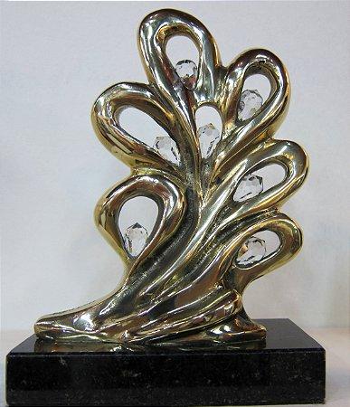 ¨Virtudes¨- escultura de bronze c/cristais SWAROVSKI,  - 17 cm, com mensagem