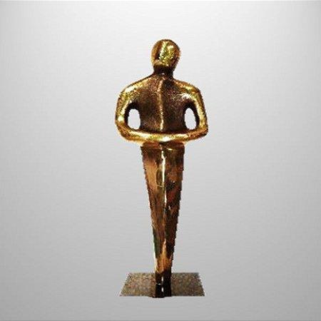 Firmeza -escultura em bronze para premiação - 18 cm