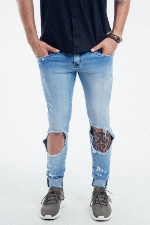 CALÇA JEANS SUPPERSKINNY RASGADA