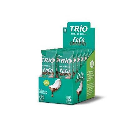 Barra De Cereais Trio Coco Com Chocolate C/12 Unidades