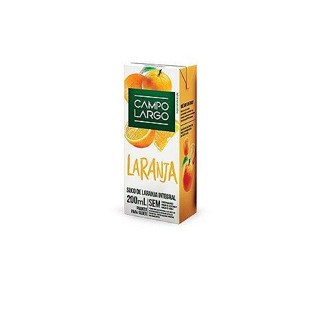 Suco De Laranja Integral Campo Largo 200ml