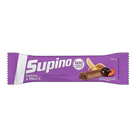 Barra De Frutas Supino Zero Banana E Ameixa Com Chocolate Ao Leite 1 Unidade De 24g
