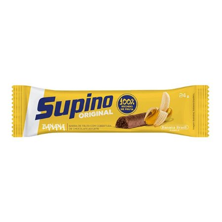 Barra De Frutas Supino Tradicional Banana Com Chocolate Ao Leite 24g
