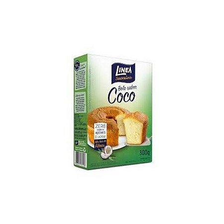 Mistura Para Bolo De Coco Linea 300g Zero Adição De Açúcares