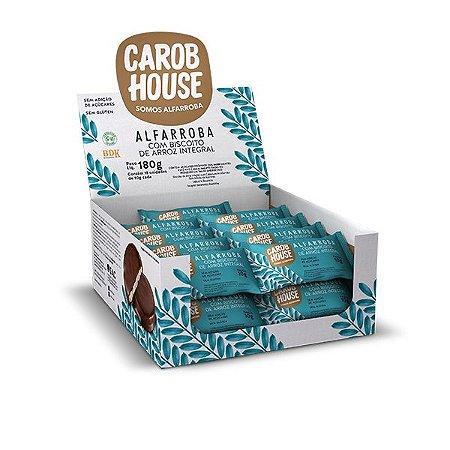 Alfarroba Com Biscoito Integral Carob House Contendo 18 Unidades