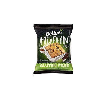 Muffin Belive Be Free Coco + Chocolate Contendo 10 Unidades De 40g Cada
