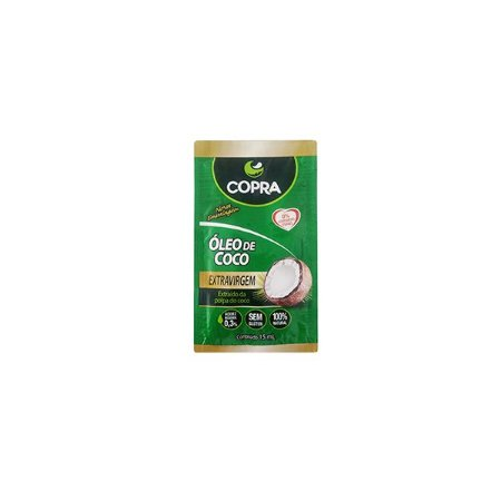 ÓLEO DE COCO COPRA EXTRAVIRGEM SACHET DE 15ml