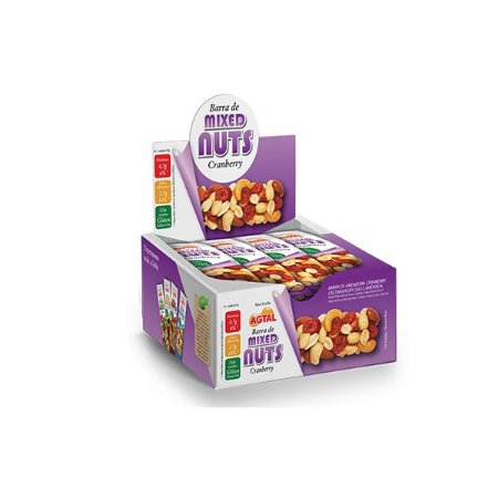 Barra De Mixed Nuts Cranberry Agtal Contendo 12 Unidades De 30g Cada