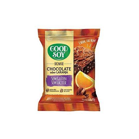 Brownie Chocolate Sabor Laranja Sem Glúten E Sem Lactose Good Soy 40g