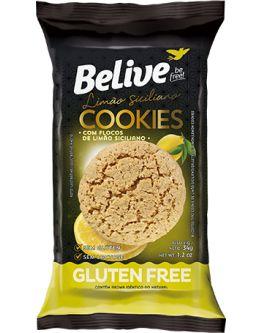 Cookies Belive Be Free Com Flocos De Limão Siciliano Sem Glúten 34g