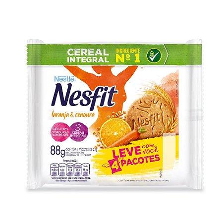 Biscoito Nesfit Nestle Integral Laranja E Cenoura Contendo 4 Pacotes De 22g Cada