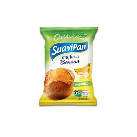 Muffin De Banana Orgânico Suavipan 40g