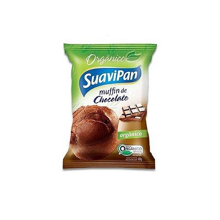 Muffin De Chocolate Orgânico Suavipan 40g