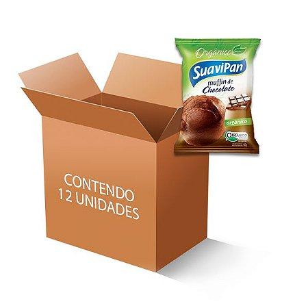 Muffin De Chocolate Orgânico Suavipan Contendo 12 Unidades De 40g Cada