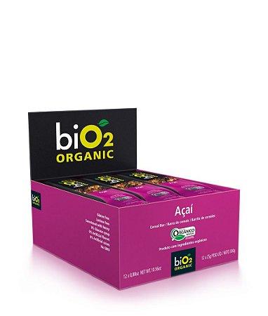 Barra De Cereais Açaí Bio2 Organic Contendo 12 Unidades De 25g Cada