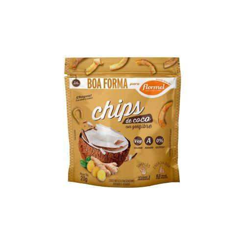 Chips De Coco Com Gengibre Flormel Boa Forma Pacote Unitário