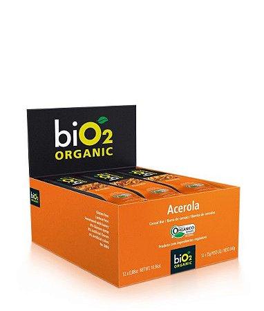 Barra De Cereais Acerola Bio2 Organic Contendo 12 Unidades De 25g Cada