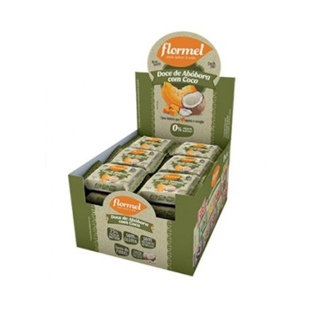 Doce De Abóbora Com Coco Zero Açúcar Flormel Contendo 24 Unidades
